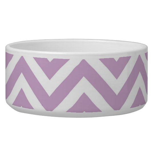 Lilac Purple Chevron Dog Food Bowls