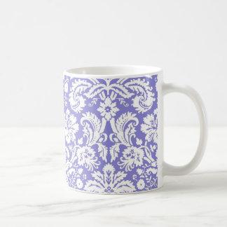 Lilac purple damask pattern coffee mug