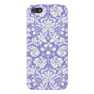 Lilac purple damask pattern iPhone 5 cases