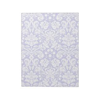 Lilac purple damask pattern notepad