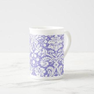 Lilac purple damask pattern tea cup
