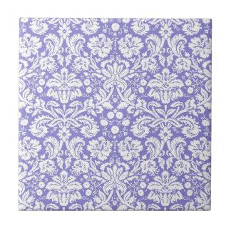 Lilac purple damask pattern tile