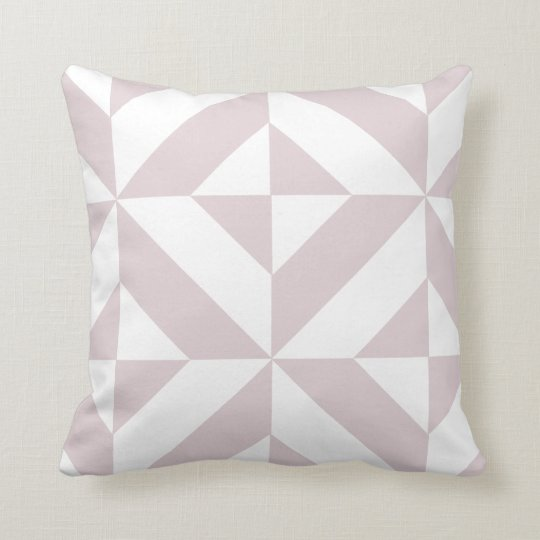 Lilac Purple Geometric Deco Cube Pattern Cushion