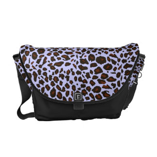 Lilac Purple Leopard Pattern Courier Bags