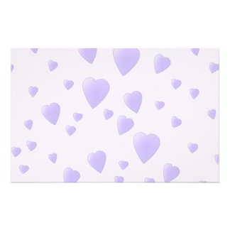 Lilac Purple Pattern of Love Hearts. Flyers