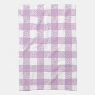 Lilac Purple Preppy Buffalo Check Plaid Tea Towels