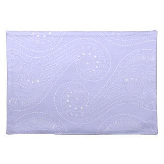 Lilac purple & White Swirls Placemat