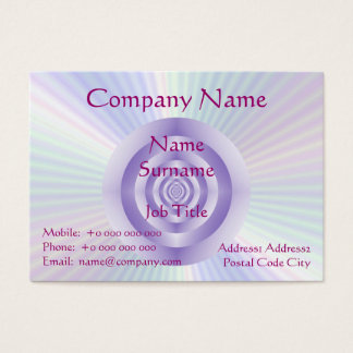 Lilac Rings Chubby Business Card
