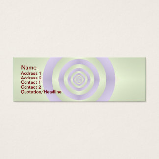 Lilac Rings on Green Business Card