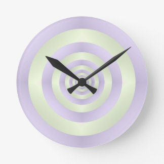 Lilac Rings on Green Wall Clock