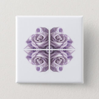 Lilac Rose Abstract 15 Cm Square Badge