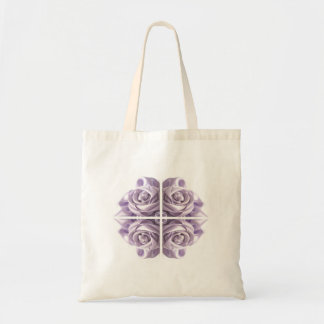Lilac Rose Abstract Canvas Bags