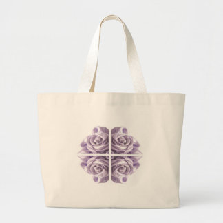 Lilac Rose Abstract Large Tote Bag