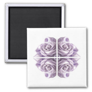 Lilac Rose Abstract Magnet