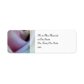 Lilac Rose Wedding Return Address Label