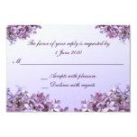 Lilac RSVP Wedding Custom Invites