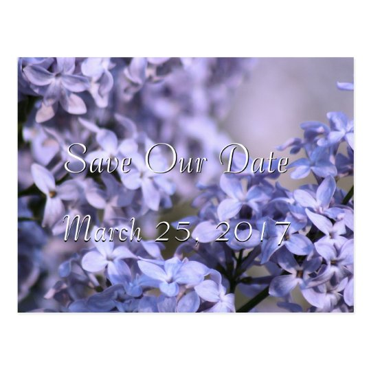 Lilac Save-the-Date Invitation- or any occasion Postcard