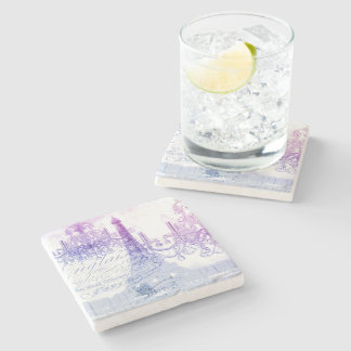 lilac scripts chandelier paris eiffel tower stone coaster