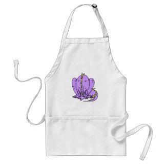 Lilac Shy Dragon Adult Apron