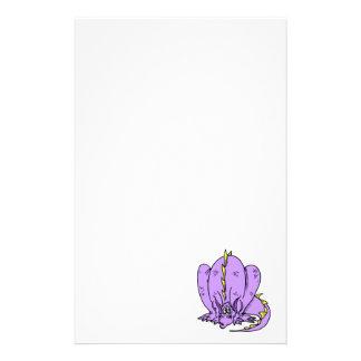Lilac Shy Dragon Personalised Stationery
