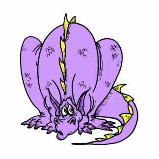 Lilac Shy Dragon Photo Sculpture