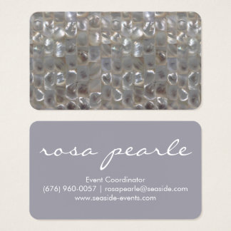 Lilac & Silver Pearl Business Card