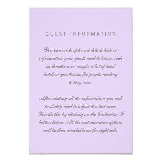 Lilac Simple Wedding Insert Card