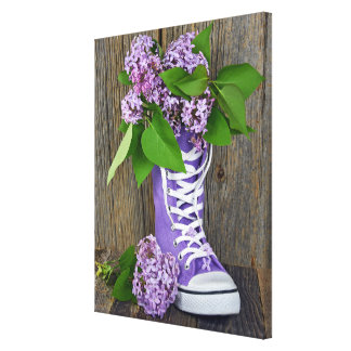 Lilac Sneakers Canvas Prints
