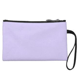Lilac Solid Color Wristlet Purse