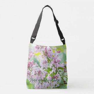 lilac spring tote bag