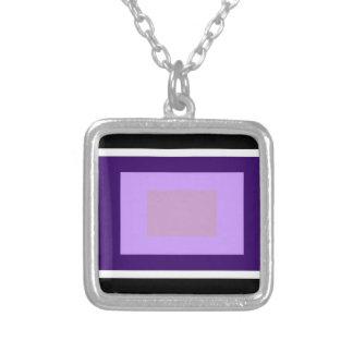 Lilac Squares Pendants