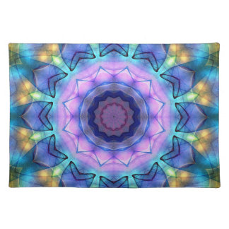 lilac stained glass placemats