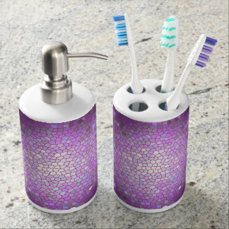 Lilac Stained Glass Mosaic Soap Dispenser