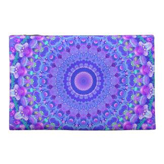 Lilac Starburst (Blue) Travel Accessories Bag