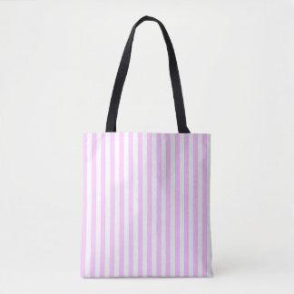 Lilac Stripe all over tote striped back Tote Bag