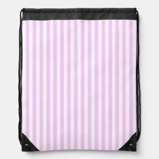 Lilac Stripe Classic drawstring backpack