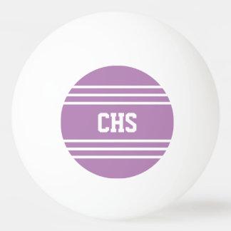 Lilac Stripes custom monogram balls