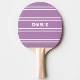 Lilac Stripes custom monogram paddle