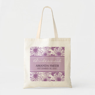 Lilac Sunflowers Personalized Wedding Party Bag