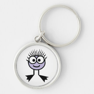 Lilac Swim Character Key Ring