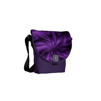 Lilac Swirl Courier Bags