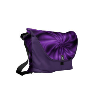Lilac Swirl Courier Bag