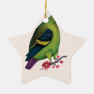 lilac tailed parrotlet, tony fernandes christmas ornament