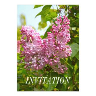 "Lilac Tree Invitation 5"" X 7"" Invitation Card"