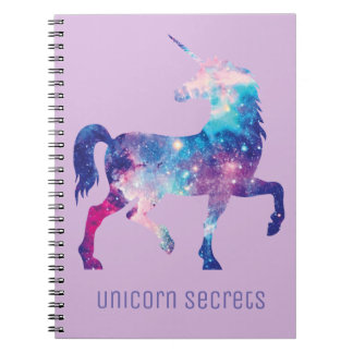 Lilac Unicorn Secrets Notebook