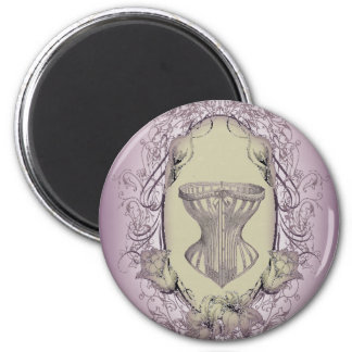 Lilac Vintage steampunk bride Victorian corset 6 Cm Round Magnet