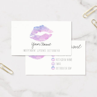 Lilac Watercolor Business cards