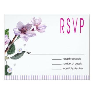 Lilac Watercolor Flowers RSVP Announcements