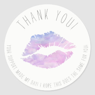 Lilac Watercolor Thank You stickers