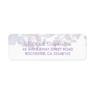 Lilac Watercolors Floral Wedding Return Address Label